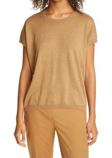 Eileen Fisher Organic Linen & Cotton Cap Sleeve Sweater