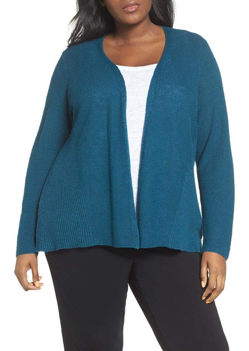 15cf623187d Eileen Fisher Eileen Fisher Organic Linen   Cotton Cardigan (Plus ...