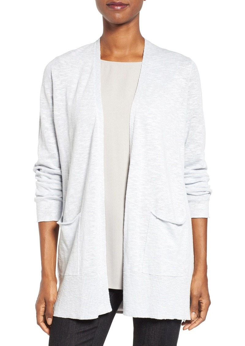 6c388c8bb51 Eileen Fisher Eileen Fisher Organic Linen   Cotton Open Front Cardigan