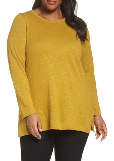 Eileen Fisher Organic Linen & Cotton Sweater (Plus Size)