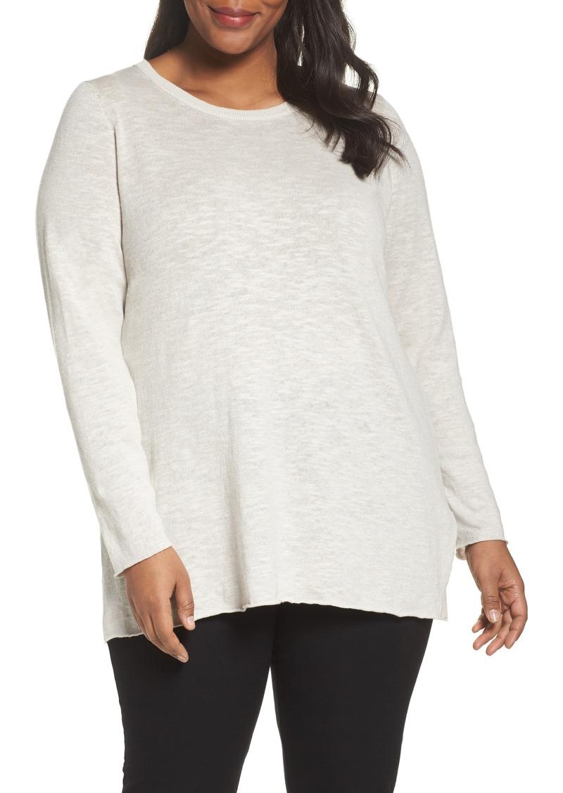 98d7ee04284 SALE! Eileen Fisher Eileen Fisher Organic Linen   Cotton Sweater ...