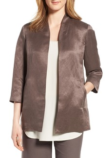 Eileen Fisher Organic Linen & Silk Jacket (Regular & Petite)