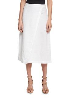Eileen Fisher Organic Linen A-Line Wrap Skirt