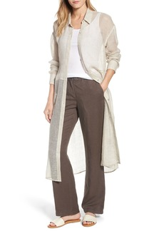 Eileen Fisher Organic Linen Blend Duster