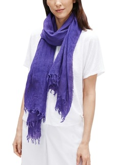 Eileen Fisher Organic Linen-Blend Fringed Scarf