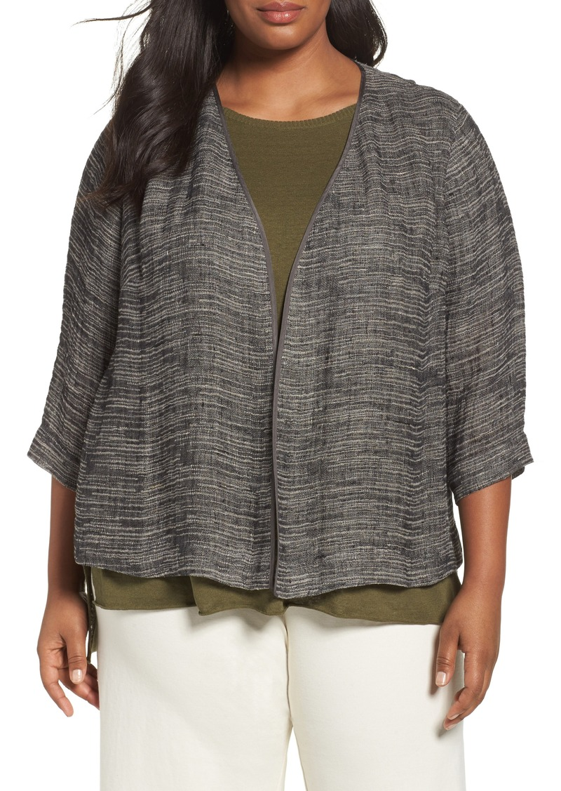 426f4781a1a Eileen Fisher Eileen Fisher Organic Linen Blend Kimono Jacket (Plus ...