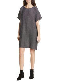 Eileen Fisher Organic Linen Blend Shift Dress