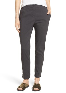 Eileen Fisher Organic Linen Blend Slim Ankle Pants (Nordstrom Exclusive)