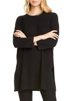 Eileen Fisher Organic Linen Blend Tunic Sweater