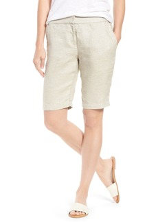Eileen Fisher Organic Linen Blend Walking Shorts