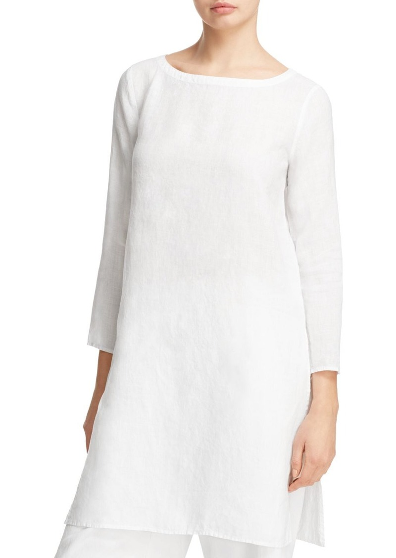 5902f9b6fc231 On Sale today! Eileen Fisher Eileen Fisher Organic Linen Boat Neck Tunic