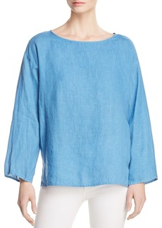 Eileen Fisher Organic Linen Boxy Top - 100% Exclusive