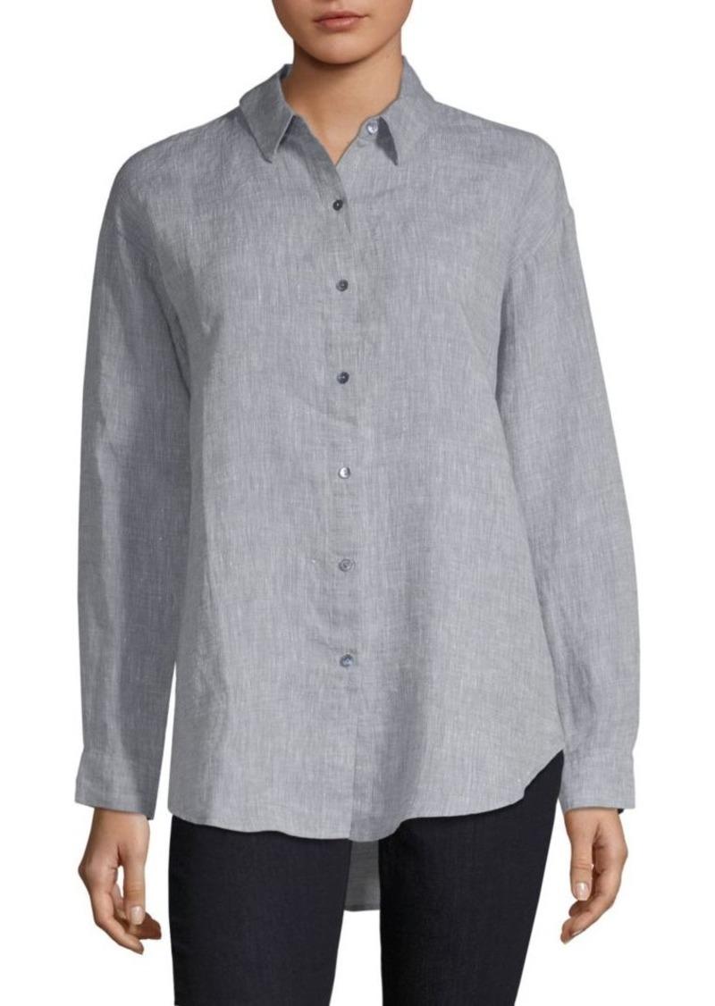 ef369d21 Eileen Fisher Organic Linen Button-Down Shirt Now $124.60