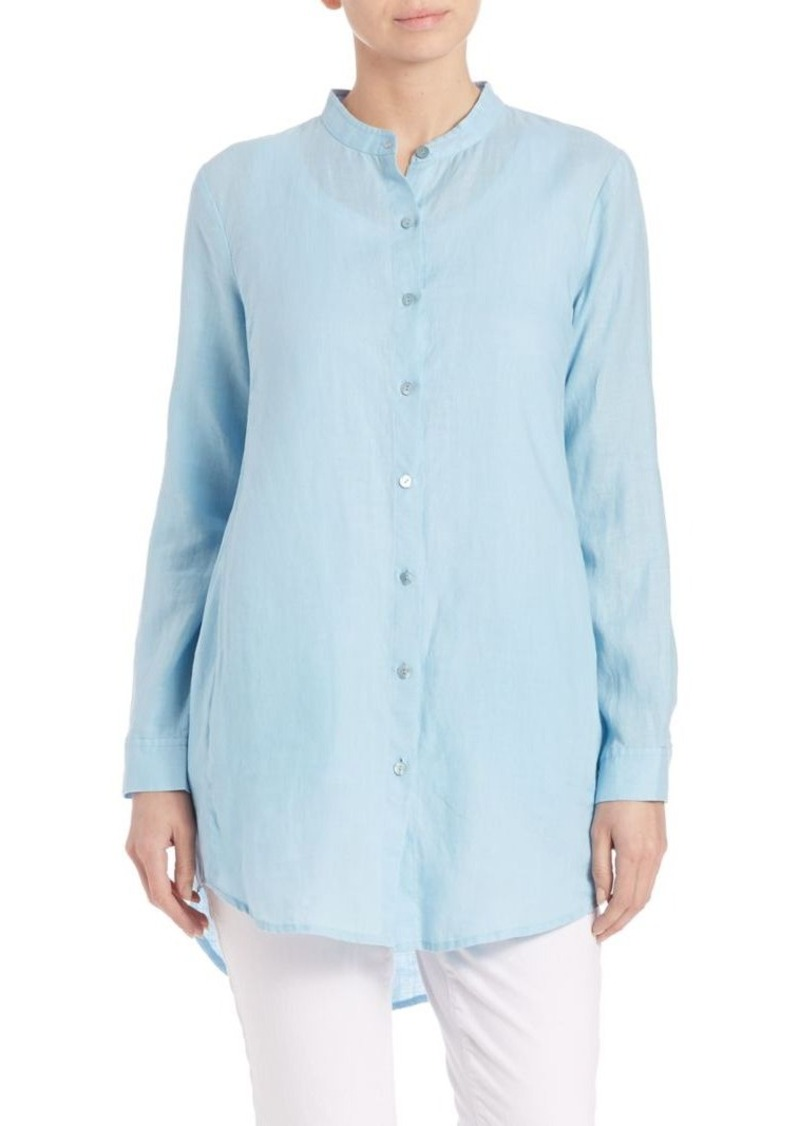 Eileen Fisher Organic Linen Button-Front Shirt