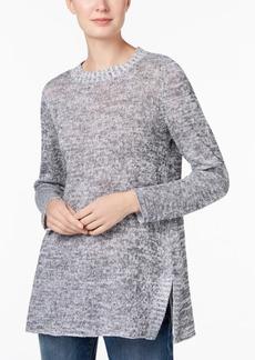 Eileen Fisher Organic Linen Crew-Neck Sweater