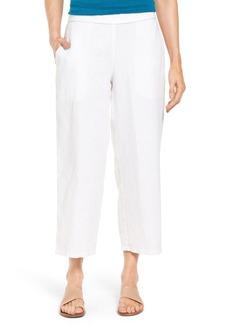 Eileen Fisher Organic Linen Crop Pants (Regular & Petite)
