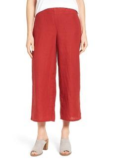 Eileen Fisher Organic Linen Crop Wide Leg Pants (Regular & Petite)