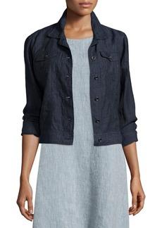 Eileen Fisher Organic Linen Jean Jacket