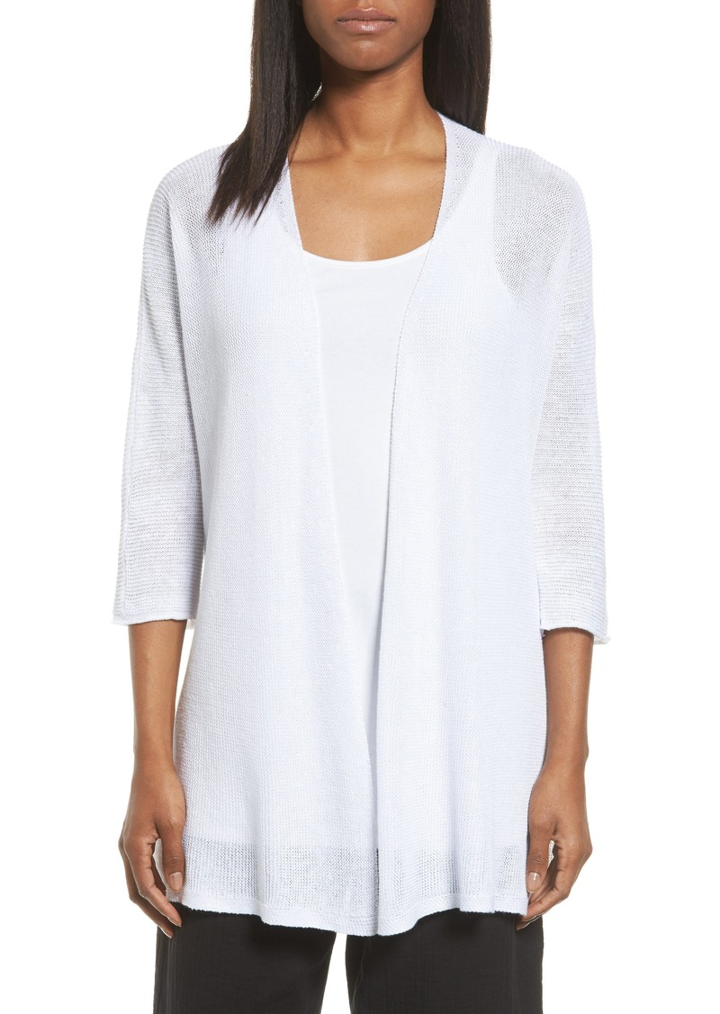 Eileen Fisher Eileen Fisher Organic Linen Kimono Cardigan (Regular ...