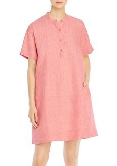 Eileen Fisher Organic Linen Mandarin Collar Dress