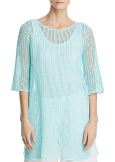 Eileen Fisher Organic Linen Mesh Tunic