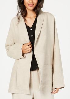 Eileen Fisher Organic Linen Open-Front Blazer