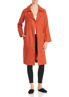 Eileen Fisher Organic Linen Open Trench Coat