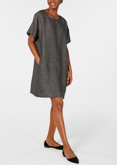 Eileen Fisher Organic Linen Relaxed Dress, Regular & Petite