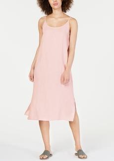 Eileen Fisher Organic Linen Scoop-Neck Midi Dress