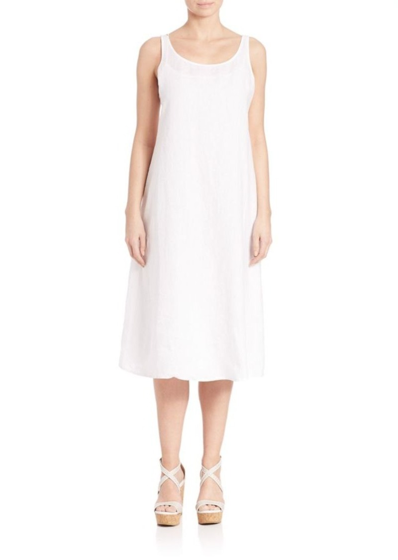 Eileen Fisher Organic Linen Scoopneck Dress