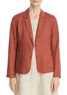 Eileen Fisher Organic Linen Shaped Blazer