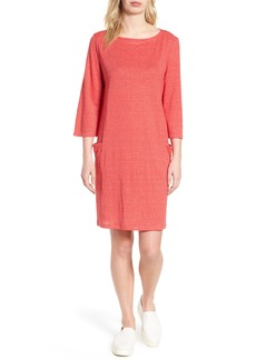 Eileen Fisher Organic Linen Shift Dress (Regular & Petite)