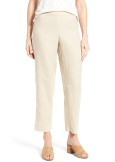 Eileen Fisher Organic Linen Slim Ankle Pants (Regular & Petite)