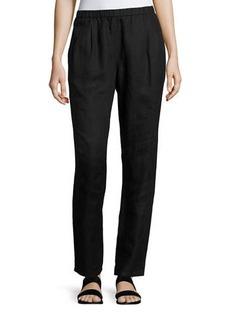 Eileen Fisher Organic Linen Slouchy Pants