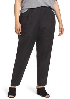 Eileen Fisher Organic Linen Slouchy Pants (Plus Size)
