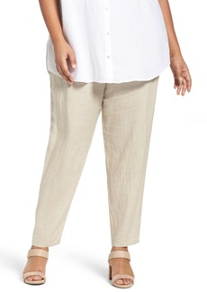 Eileen Fisher Organic Linen Slouchy Pants (Plus Size)
