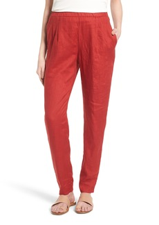 Eileen Fisher Organic Linen Slouchy Pants (Regular & Petite)