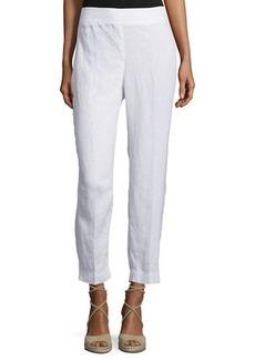 Eileen Fisher Organic Linen Straight-Leg Ankle Pants