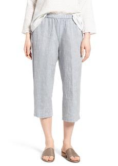 Eileen Fisher Organic Linen Straight Leg Crop Pants (Regular & Petite)