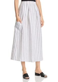 Eileen Fisher Petites Organic Cotton Striped Skirt - 100% Exclusive