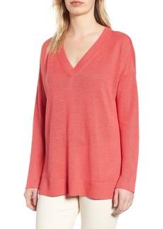 Eileen Fisher Organic Linen Sweater (Regular & Petite)