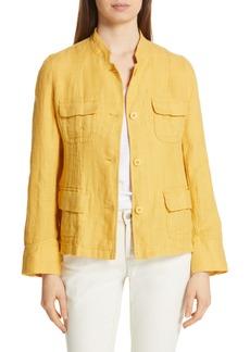Eileen Fisher Organic Linen Utility Jacket (Regular & Petite)