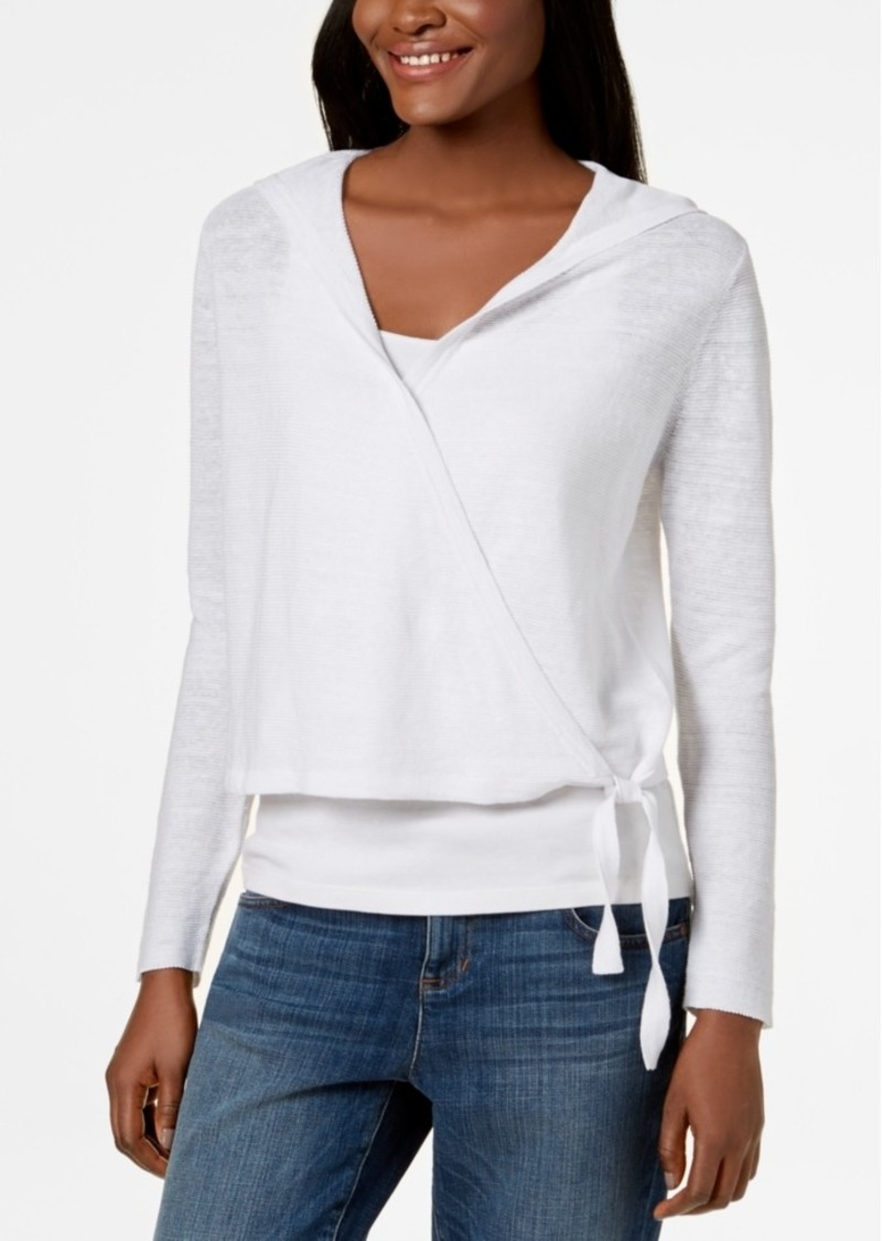 05e09f6b16 Eileen Fisher Eileen Fisher Organic Linen Wrap Cardigan | Sweaters