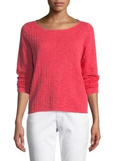 Eileen Fisher Organic Linen/Cotton Knit Box Top