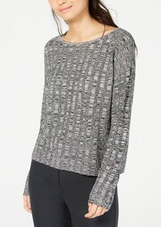 Eileen Fisher Organic Linen and Silk Scoop-Neck Sweater