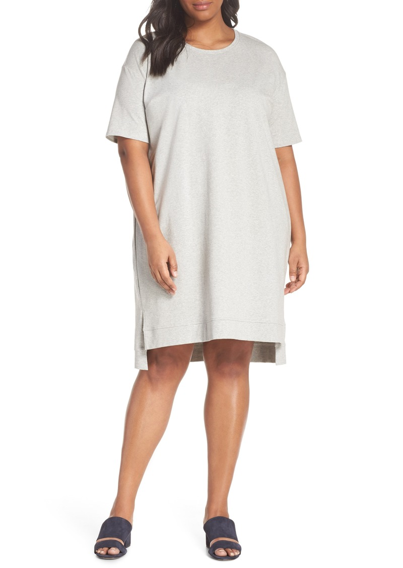 26596b4661c Eileen Fisher Eileen Fisher Organic Stretch Cotton Shift Dress (Plus ...