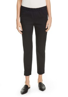 Eileen Fisher Organic Stretch Cotton Slit Hem Ankle Pants
