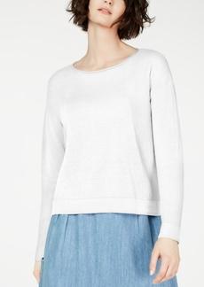 Eileen Fisher Organic Sweatshirt, Regular & Petite, Created for Macy's