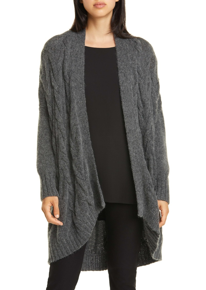 Eileen Fisher Oval Open Front Cardigan