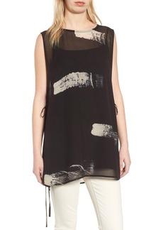Eileen Fisher Overlay Silk Top